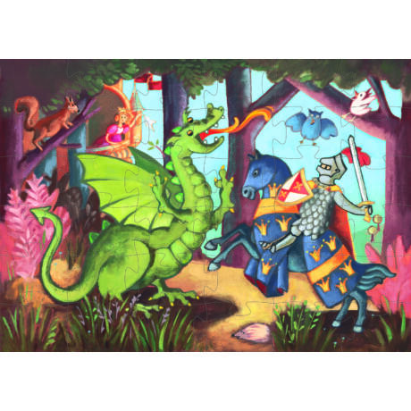 Formadobozos puzzle - Sárkányölő - The Knight At The Dragon's- DJECO