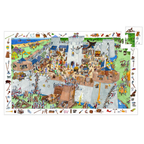 Megfigyeltető puzzle - Bevehetetlen vár 100 db-os - Fortified castle- DJECO