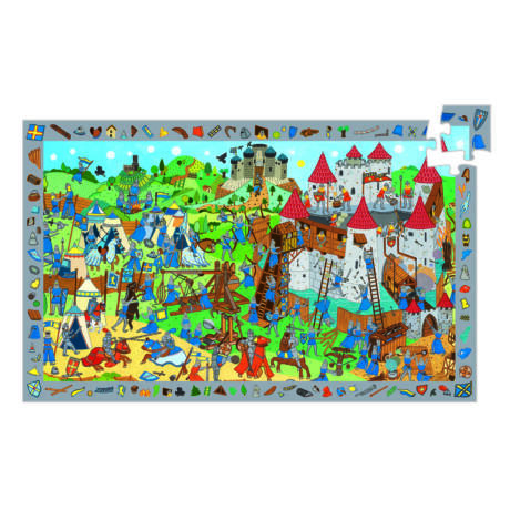 Megfigyeltető puzzle - Lovagok, 54 db-os - Knights- DJECO