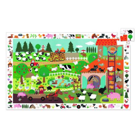 Megfigyetetlő puzzle - A farm, 35 db-os - The farm- DJECO