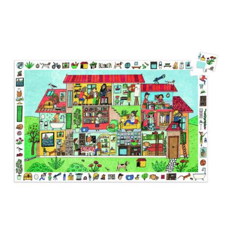 Megfigyeltető puzzle - A ház, 35 db-os - The house- DJECO