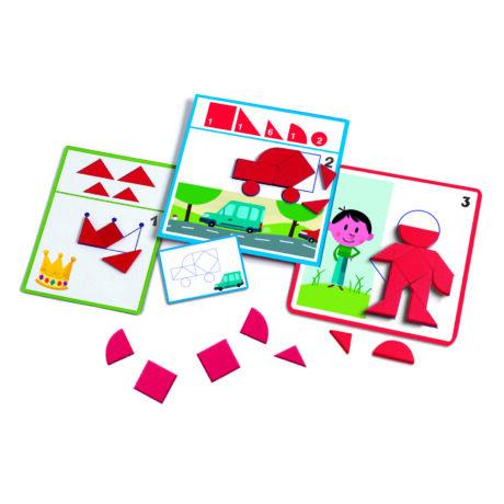 Fejlesztő játék - Alakzatok és formák - Eduludo Shapes- DJECO
