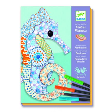 Művészeti műhely - Színező, Mintázatok ceruzával és filctollal - Motif art- DJECO