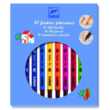 Ecsetfilc készlet - 10 klasszikus szín - Classic colors- DJECO