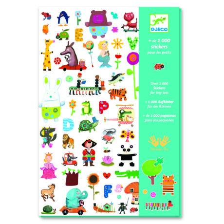 Matricák - 1000 matrica - 1000 stickers for little ones- DJECO