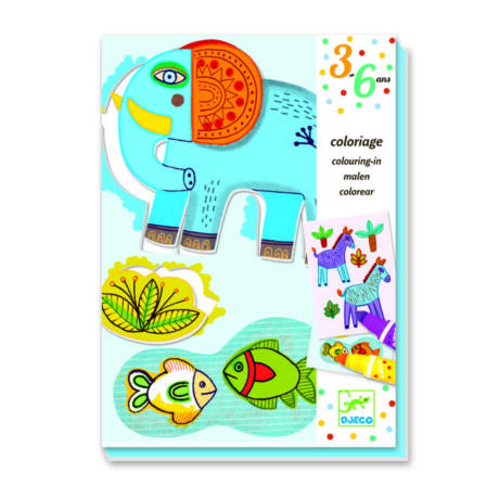Színező készlet - Állatkert - Zoo zoo- DJECO