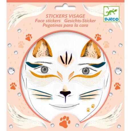 Arc dekoráló matrica - Cica - Cat- DJECO