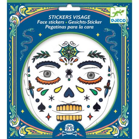 Arc dekoráló matrica - Koponya - Skull- DJECO