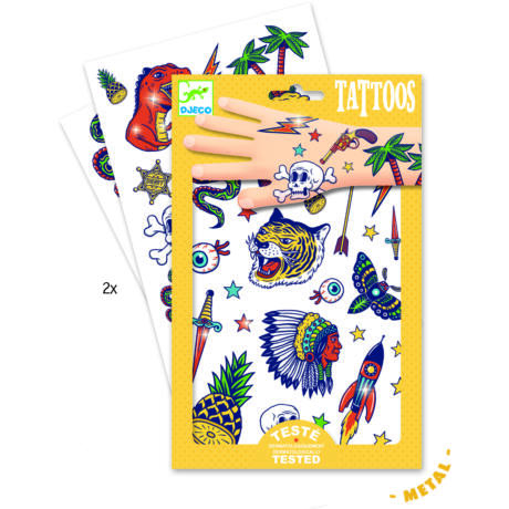 Tetováló matricák - Bumm-bumm - Bang bang- DJECO