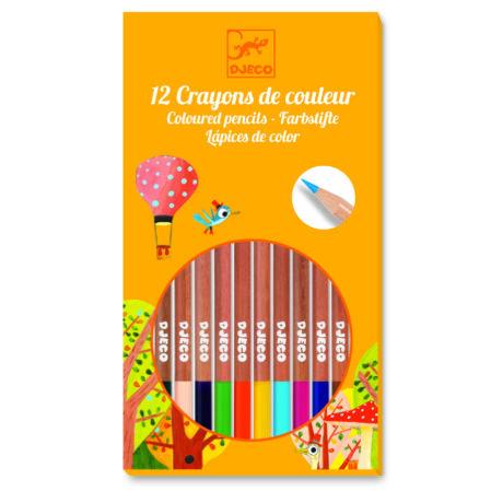 Színes ceruza készlet - 12 szín - 12 pencils- DJECO