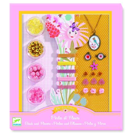 Ékszerkészító készlet - Gyöngyök és virágok - Pearls and flowers- DJECO