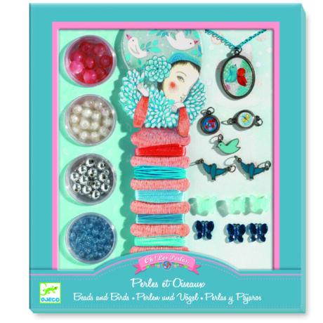 Ékszerkészító készlet - Gyöngyök és madarak - Pearls and birds- DJECO
