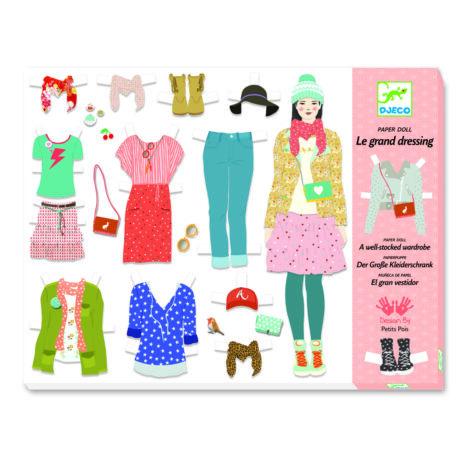 Papírbaba öltöztető - Hatalmas gardrób – One big dressing room - DJECO