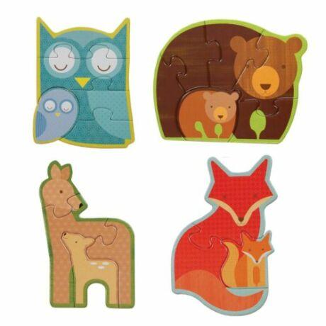 Petit Collage kezdő puzzle – erdei állatok
