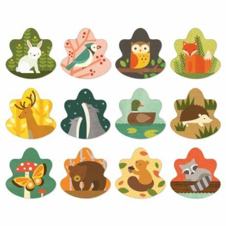 Petit Collage memóriajáték – erdei állatok