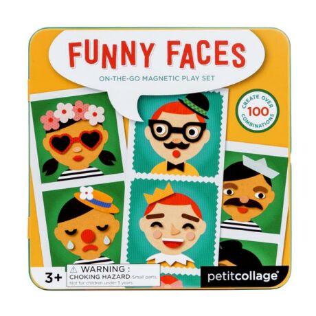 Petit Collage 100% organikus mágneses játékkészlet – vidám arcok