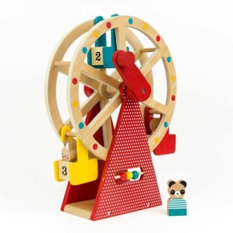 Petit Collage 100% organikus fejlesztő fa játék, óriáskerék