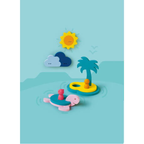 Quut építsd magad 3D fürdős puzzle készlet - Kincses sziget - 12 db-os