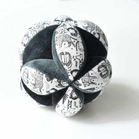 Wee Gallery organikus érzékfejlesztő labda babáknak - Wild /Jungle - Vadállatos