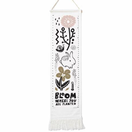 Wee Gallery organikus textil magasságmérő - Virág - Bloom
