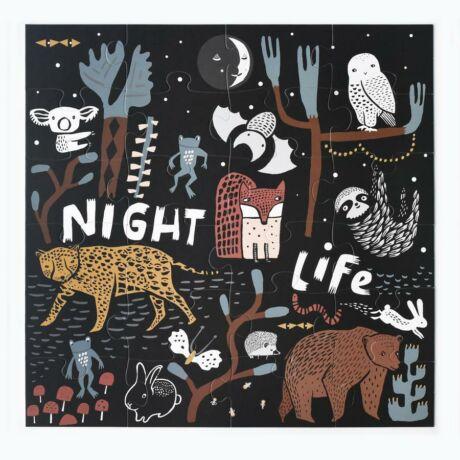 Wee Gallery óriás padló puzzle - Éjjel az erdőben