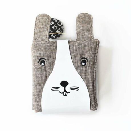 Wee Gallery organikus textil babakönyv - Barátságos arcok az erdőben