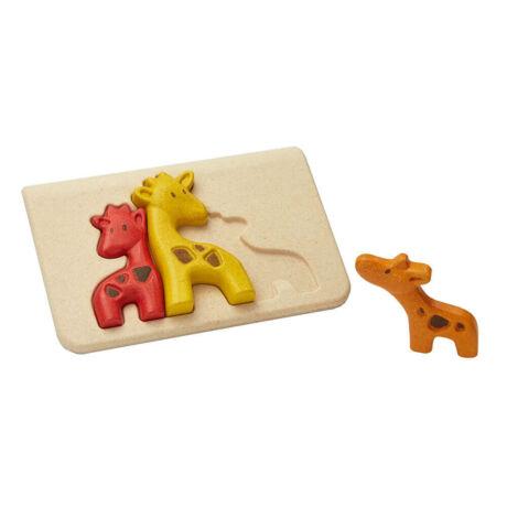 Zsiráf kirakó Plan Toys