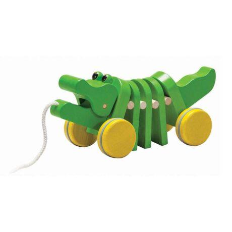 Húzható táncoló aligátor  - Plan Toys