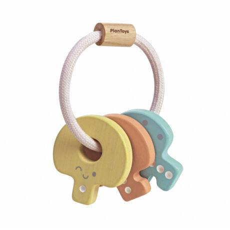 Kulcs csörgő - pasztell Plan Toys