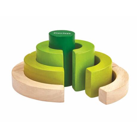 Íves építő kockák Plan Toys