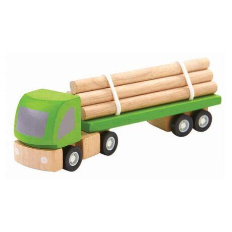 Faszállító autó Plan Toys