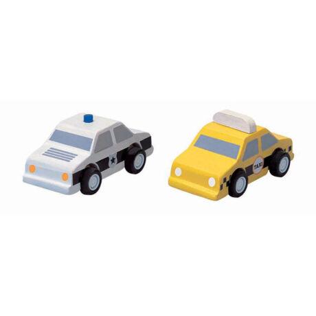 Taxi és rendőautó Plan Toys