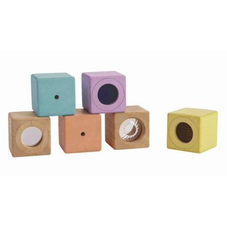 Fejlesztő kocka készlet - pasztell Plan Toys