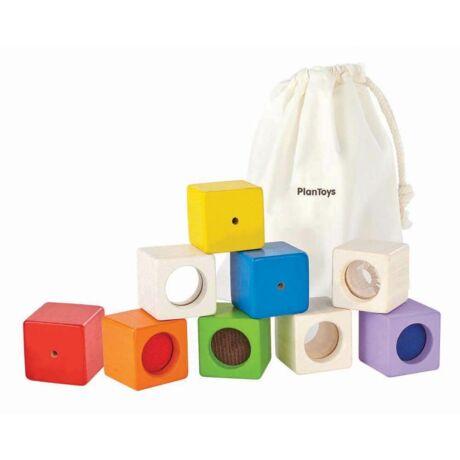 Fejlesztő kocka készlet Plan Toys