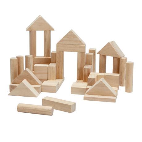 Plan Toys 40 db-os építőkocka szett - natúr