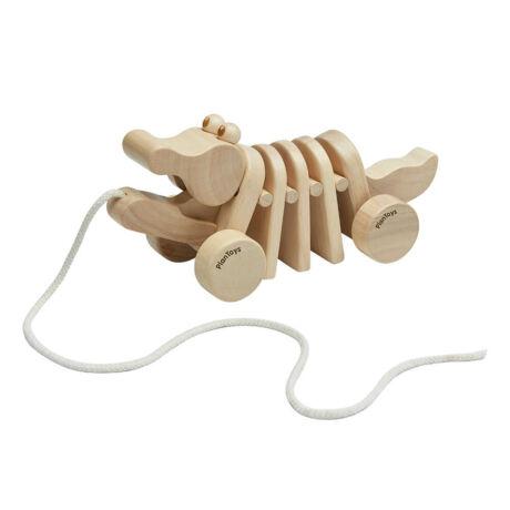 Plan Toys Húzható táncoló aligátor natúr
