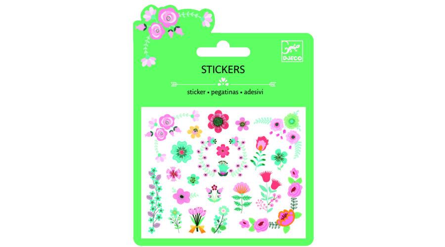 f098c6026f5e Mini matrica - Kis virágok - Small flowers- DJECO Katt rá a felnagyításhoz